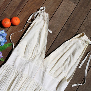Free People | Runway White Striped Maxi Dress